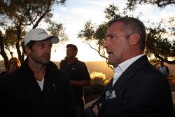 Cocktail de bienvenida, el actor Patrick Dempsey, y Marcello Lotti Director General de WTCC