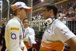 Nico Hulkenberg, Sahara Force India F1 with Bradley Joyce, Sahara Force India F1 Race Engineer