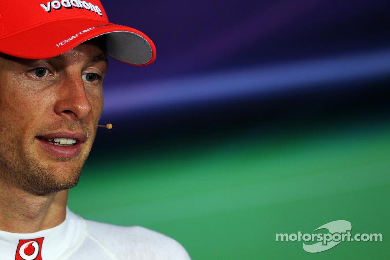 FIA persconferentie: 2de plaats Jenson Button, McLaren Mercedes