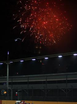 Fernando Alonso, Ferrari with fireworks in the sky