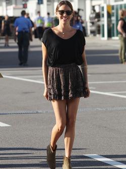 Jessica Michibata, girlfriend of Jenson Button, McLaren