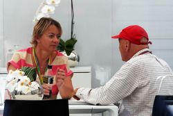 Niki Lauda, with Sabine Kehm, Manager of Michael Schumacher, Mercedes AMG F1