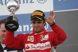 Felipe Massa, Ferrari celebrates his second position on the podium