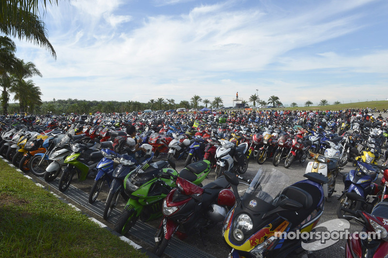 Rows of motorcycles