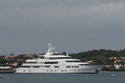 A huge yacht