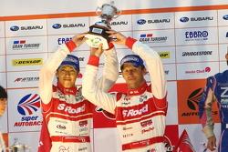 GT500 podium: second place and 2012 champions Masataka Yanagida, Ronnie Quintarelli