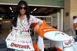 Chitrangada Singh, Bollywood Actress with the Sahara Force India F1 Team