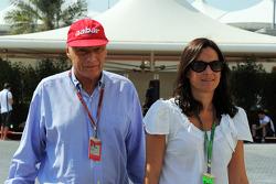 Niki Lauda, ve eşi Birgit Lauda
