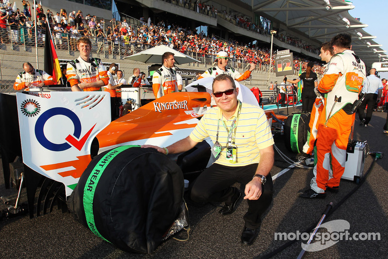 Sahara Force India F1 Team Gast op de grid