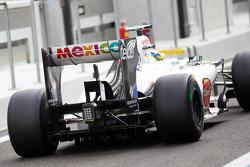 Esteban Gutierrez, Sauber Third Driver rear wing and rear diffuser detail