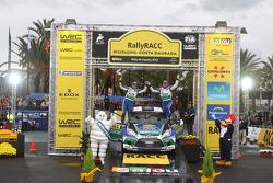 Podio: Jari-Matti Latvala y Miikka Anttila, Ford Fiesta RS WRC, Ford World Rally Team