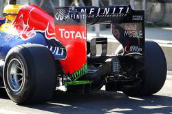 Mark Webber, Red Bull Racing running flow-vis paint