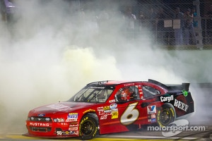 2012 NASCAR Nationwide Series champion Ricky Stenhouse Jr., Roush Fenway Ford celebrates