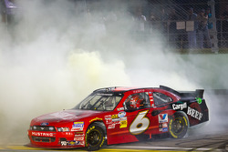 2012 NASCAR Nationwide Series champion Ricky Stenhouse Jr., Roush Fenway Ford celebrates