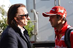 Emerson Fittipaldi, with Felipe Massa, Ferrari