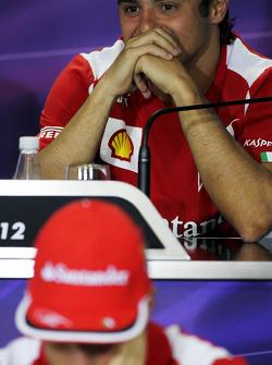 Felipe Massa, Ferrari en Fernando Alonso, Ferrari in de FIA persconferentie