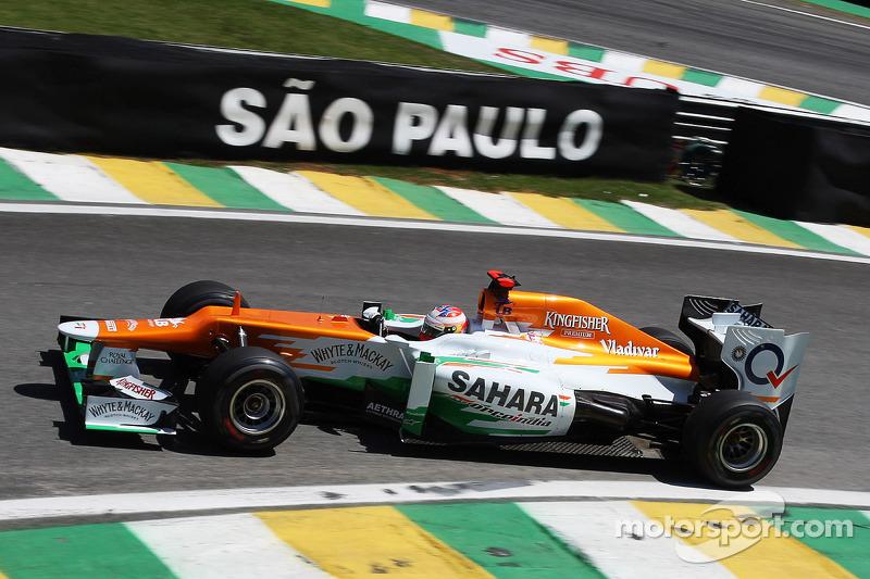 Пол ди Реста. ГП Бразилии, Вторая пятничная тренировка.