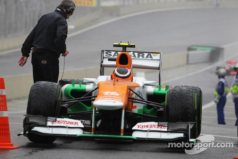 Nico Hulkenberg, Sahara Force India F1 in parc ferme