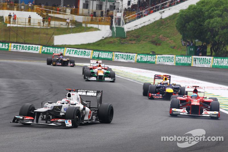 Камуи Кобаяши. ГП Бразилии, Воскресная гонка.