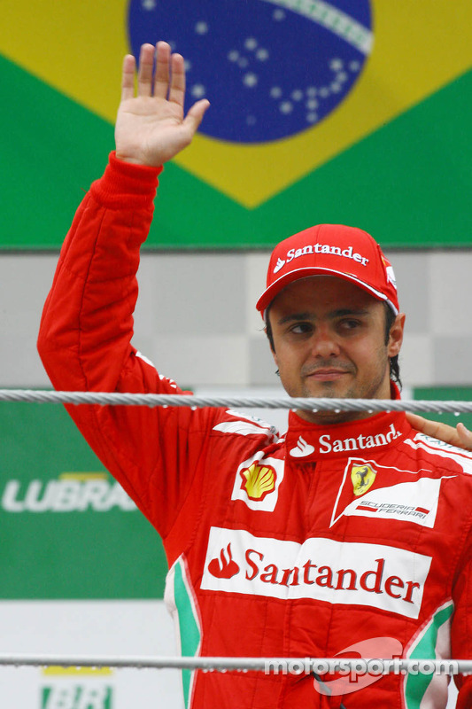 Felipe Massa, Ferrari celebrates his third position on the podium
