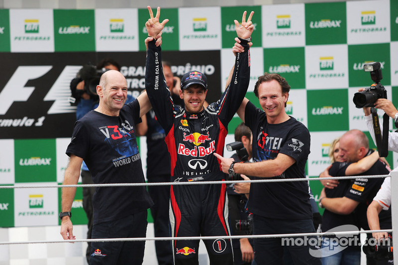 Sebastian Vettel, Red Bull Racing c viert wereldtitel met Adrian Newey, Red Bull Racing Chief Techni