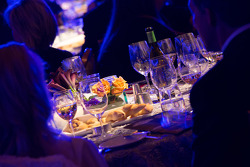 VIPs dine during the ceremony