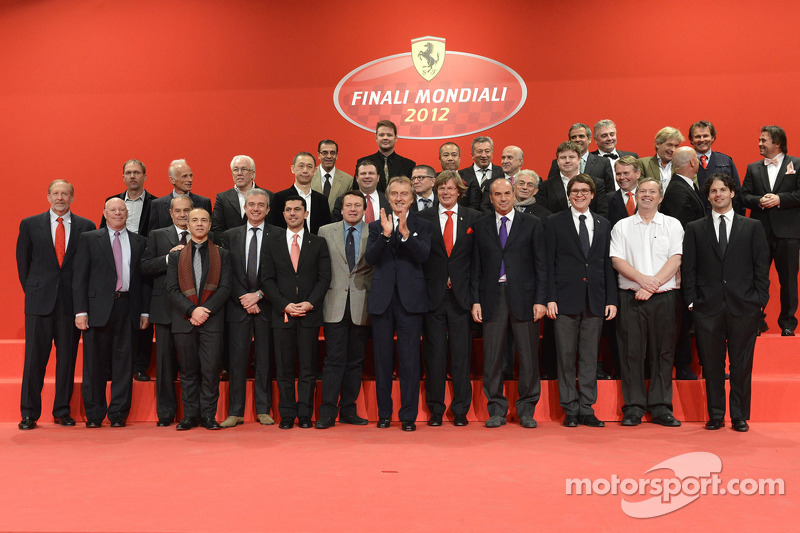 Ferrari dignitaries at the Ferrari Gala