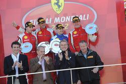 Finali Trofeo Pirelli podium: race winner Alessandro Balzan, second place, Lorenzo Case, third place Enzo Potolicchio