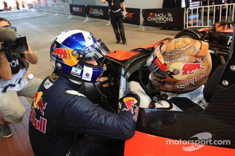 Sebastian Vettel en David Coulthard