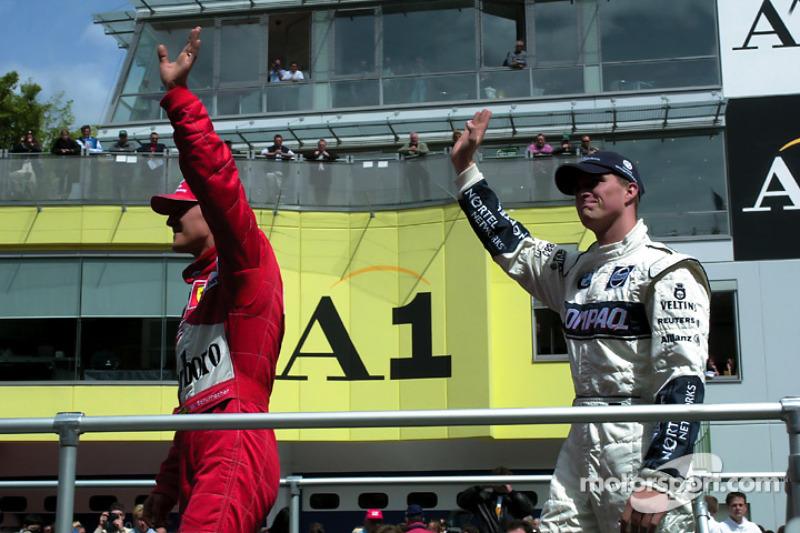 Ральф Шумахер и Михаэль Шумахер. ГП Австрии, Воскресенье, перед гонкой.