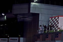 Podium: winners Syafiq Ali, Morio Nitta, second place James Veerappan, Masedenial Ali