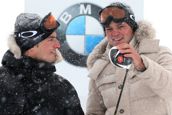 Ryder Cup kampioen Martin Kaymer en DTM kampioen Bruno Spengler in de BMW xDrive Mountain Challenge in Kühtai, Austria
