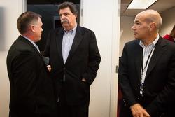 NASCAR President Mike Helton and ALMS President Scott Atherton
