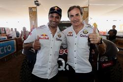 Nasser Al-Attiyah y Carlos Sainz