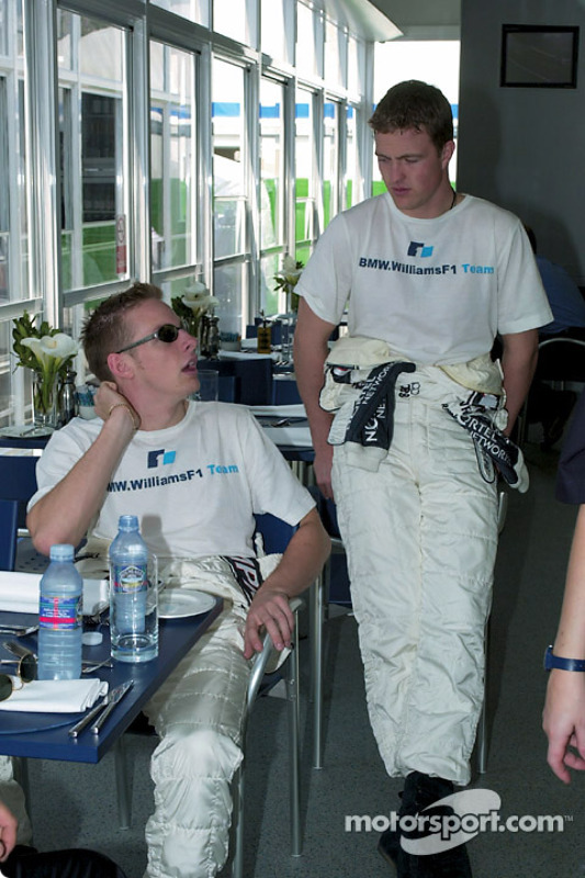 Jenson Button y Ralf Schumacher