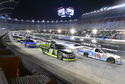 Ryan Truex, Hattori Racing Enterprises Toyota and Austin Cindric, Brad Keselowski Racing Ford