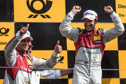 Podio: Loic Duval, Audi Sport Team Phoenix, Audi RS 5 DTM, Mike Rockenfeller, Audi Sport Team Phoenix, Audi RS 5 DTM