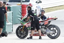 Bike von Sam Lowes, Aprilia Racing Team Gresini, nach Crash