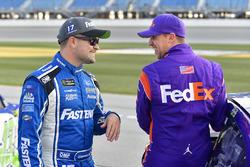 Ricky Stenhouse Jr., Roush Fenway Racing Ford, Denny Hamlin, Joe Gibbs Racing Toyota