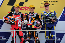 Podium: second place Stefan Bradl, Race winner Marc Marquez, third place Bradly Smith
