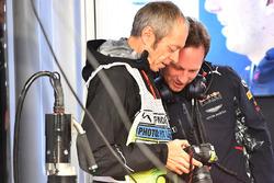 Фотограф агентства Getty Images Марк Томпсон и руководитель Red Bull Racing Кристиан Хорнер