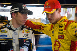 Brad Keselowski, Penske Racing Ford and Joey Logano, Penske Racing Ford