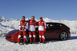Fernando Alonso and Felipe Massa, Scuderia Ferrari with Stefano Domenicali