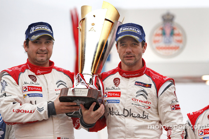 Podium: winners Sébastien Loeb and Daniel Elena, Citroën Total Abu Dhabi World Rally Team