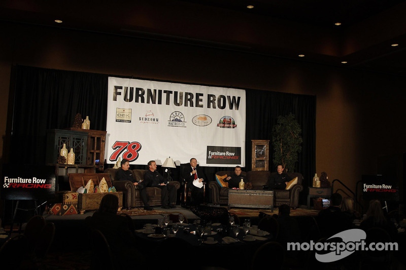 Presentation of Kurt Busch, Furniture Row Racing Chevrolet