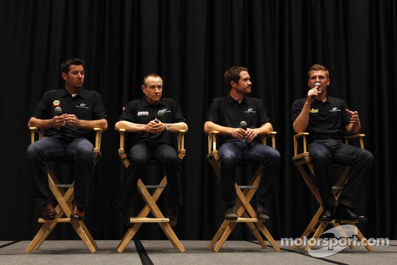 Martin Truex Jr., Mark Martin, Brian Vickers and Clint Bowyer, Michael Waltrip Racing Toyota