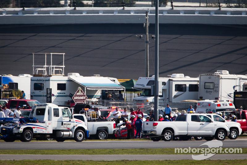 #74 Compass360 Racing Honda Civic SI: Aaron Povoledo, David Thilenius crasht zwaar