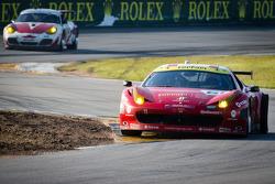 #61 R.Ferri/AIM Motorsport Racing with Ferrari Ferrari 458: Max Papis, Jeff Segal, Toni Vilander, Giancarlo Fisichella with a blown tire