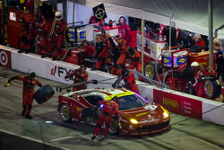 Pit stop for #61 R.Ferri/AIM Motorsport Racing with Ferrari Ferrari 458: Max Papis, Jeff Segal, Toni Vilander, Giancarlo Fisichella