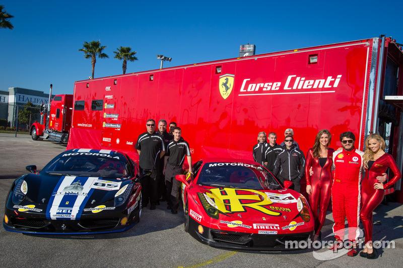 Photoshoot with #24 Auto Gallery Ferrari 458: Carlos Kauffmann and the MOMO girls